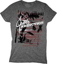 Jane's Addiction Logo Women's Gray T-shirt