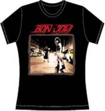 Bon Jovi Debut Album Cover Artwork Women's Black T-shirt