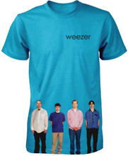 Weezer Debut Album Cover Artwork Men's Blue T-shirt