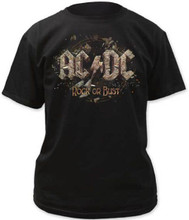 AC/DC Rock or Bust Album Cover Artwork Men's Black T-shirt
