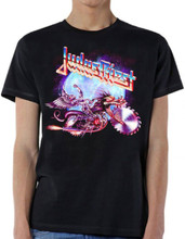 Judas Priest Painkiller Album Cover Artwork Men's Black T-shirt