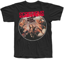 Scorpions World Wide Live Album Cover Artwork Men's Black T-shirt