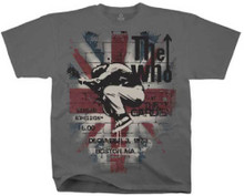 The Who at the Boston Garden December 3, 1973 Promotional Poster Artwork Men's Gray Vintage T-shirt