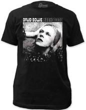 David Bowie Hunky Dory Album Cover Artwork Men's Black T-shirt