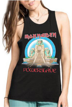 Iron Maiden Powerslave Album Cover Artwork Women's Black Tank Top Muscle T-shirt