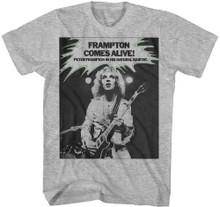 Peter Frampton Comes Alive. Peter Frampton in his Natural Habitat Album Promotional Poster Artwork Men's Gray T-shirt