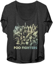 Foo Fighters Sonic Highways Album Cover Artwork Women's Gray Dolman T-shirt
