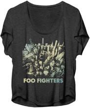 Foo Fighters Sonic Highways Album Cover Artwork Women's Gray Dolman T-shirt