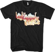 Led Zeppelin II Album Cover Artwork Men's Black T-shirt