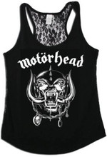 Motorhead War Pig Snaggletooth Logo Women's Black Tank Top T-shirt