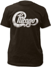 Chicago Rock Band Logo Men's Black Vintage T-shirt
