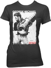 George Michael Faith Music Video Photograph Women's Black T-shirt