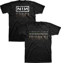 Nine Inch Nail The Downward Spiral Album Artwork and NIN Logo Men's Black T-shirt