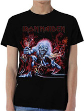 Iron Maiden A Real Live Dead One Live Album Cover Artwork Men's Black T-shirt