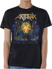 Anthrax For All Kings Album Cover Artwork Men's Black T-shirt