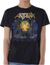 Anthrax For All Kings Album Cover Artwork Men's Black T-shirt