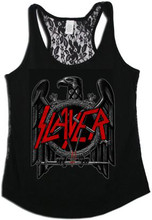 Slayer Eagle Logo Women's Black Tank Top T-shirt