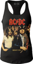 AC/DC Highway to Hell Album Cover Artwork Women's Black Tank Top T-shirt
