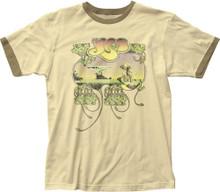 Yes Yessongs Album Cover Artwork Men's Beige Vintage Ringer T-shirt