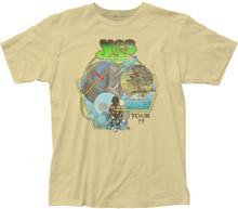 Yes Tour 1977 Men's Beige Vintage Concert T-shirt