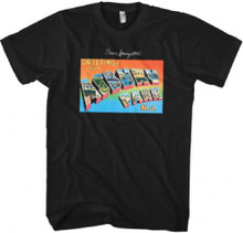 Bruce Springsteen Greetings from Asbury Park N.J. Debut Album Cover Artwork Men's Black T-shirt