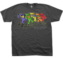 Grateful Dead Dancing Teddy Bears Logo Men's Gray T-shirt