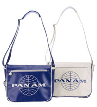 Pan Am Originals Messenger Travel Bag With Pan Am Airlines Classic Logo - Blue and White