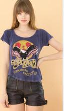 Aerosmith Permanent Vacation '87 Women's Blue Vintage Concert T-shirt