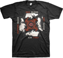 Red Hot Chili Peppers Blood Sugar Sex Magik Album Cover Artwork Men's Black T-shirt