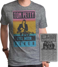 Tom Petty and the Heartbreakers Full Moon Fever Live on Tour Men's Gray Vintage Concert T-shirt