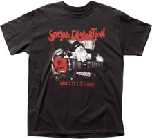 Social Distortion Mainliner (Wreckage from the Past) Album Cover Artwork Men's Black T-shirt