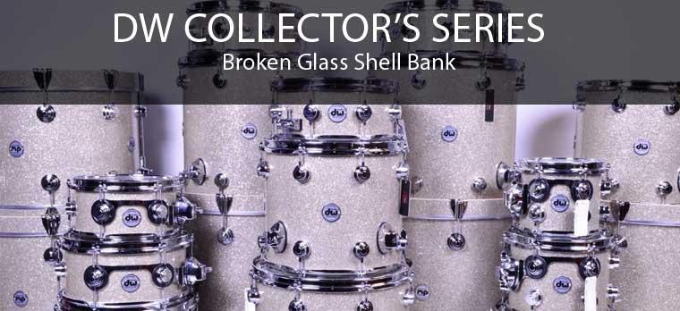 DW Broken Glass drums