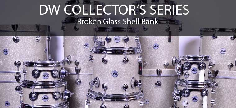 DW Broken Glass drums