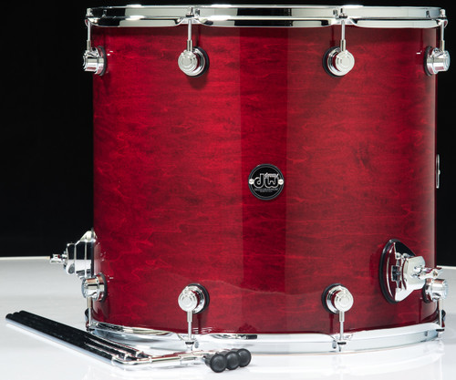 Dw Performance Series 16x18 Floor Tom Cherry Stain