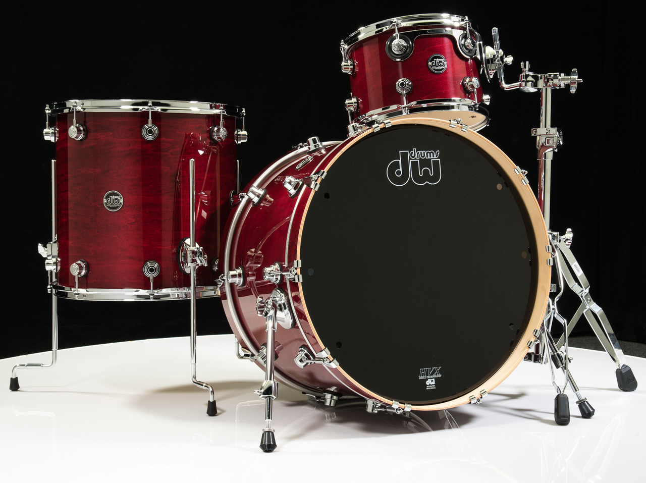 dw performance series 3pc drum kit cherry stain 12 16 22 shallow. Black Bedroom Furniture Sets. Home Design Ideas