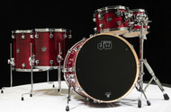 DW Performance 5pc Drum Kit Cherry Stain 10/12/14/16/22 Shallow