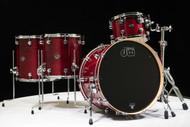 DW Performance 4pc Drum Kit Cherry Stain 12/14/16/22 Shallow