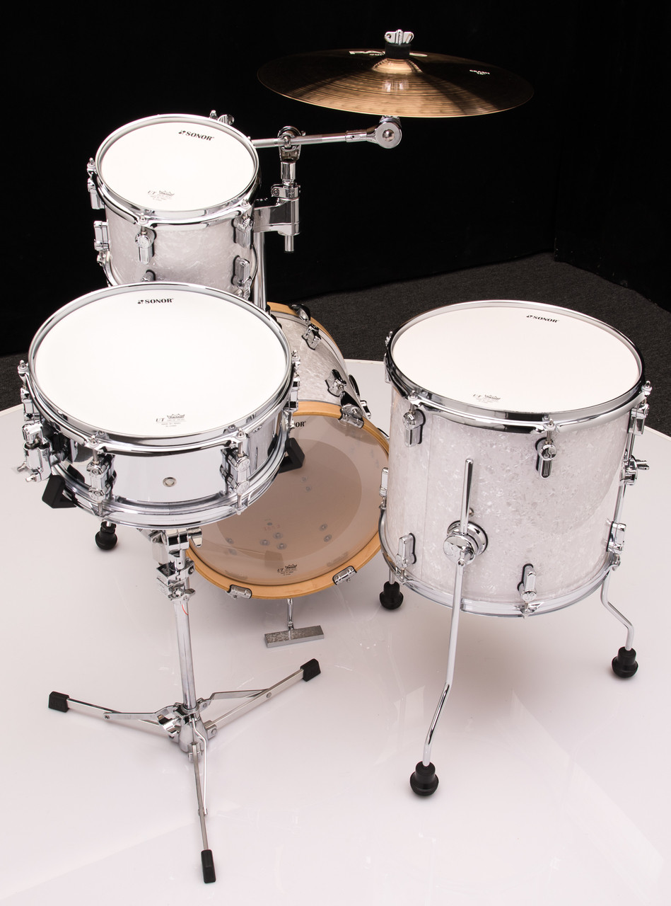 Sonor Aq2 Maple Martini Kit 4pc Shell Pack White Pearl