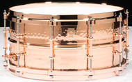 Ludwig Hammered Copperphonic 6.5x14 Snare Drum w/ Copper Hardware