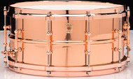 Ludwig Smooth Copperphonic 6.5x14 Snare Drum w/ Copper Hardware