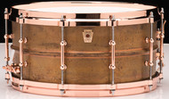 Ludwig Raw Copperphonic 6.5x14 Snare Drum w/ Copper Hardware