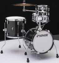 Sonor AQ2 Maple Martini Kit 4pc Shell Pack - Transparent Black Lacquer