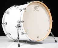 DW Design Series 18x22 Bass Drum Gloss White Lacquer