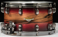 TAMA Starclassic Maple Exotic Snare 8x14 - Ruby Pacific Walnut Burst