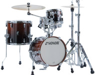 Sonor AQ2 Maple Martini Kit 4pc Shell Pack - Brown Fade Lacquer
