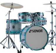Sonor AQ2 Maple Studio Kit 5pc Shell Pack - Aqua Silver Burst