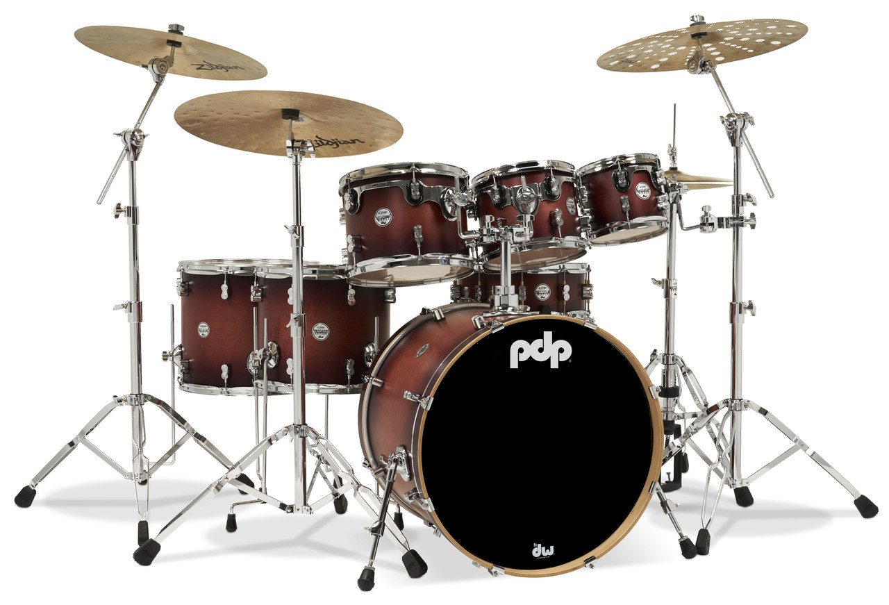 PDP Concept Maple 7pc Shell Pack - Satin Tobacco Burst