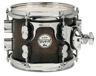 "PDP Concept Exotic Series 8"" Tom - Charcoal Burst Over Walnut"