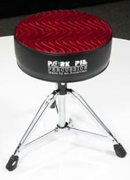 Pork Pie Star Round Throne Black w/ Red Swirl