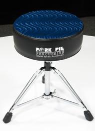 Pork Pie Star Round Throne Black w/ Royal Blue Swirl